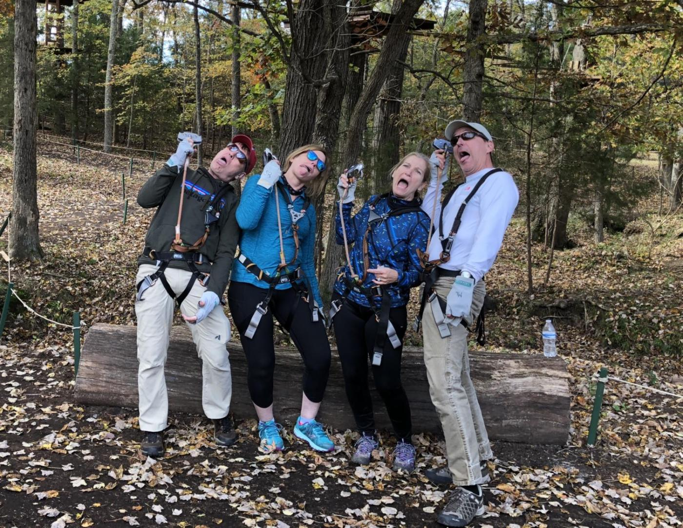 Our group after the ropes course.