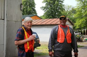 Fred Baldwin and volunteer from from Letort Star Masons