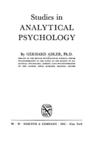 carl jung analytical psychology