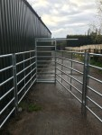 Cattle Handling System - Sliding Gate Closed from Inside passage.