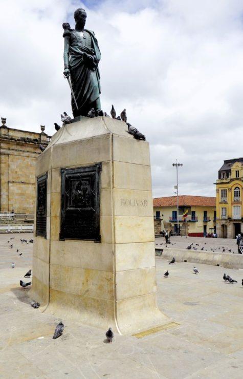 Simon Bolivar statue, Bogota