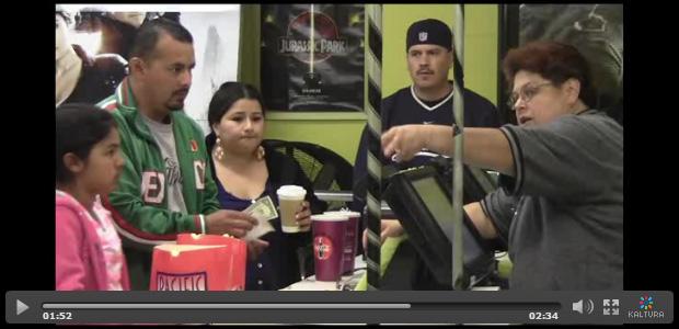Screen shot of drive-in video