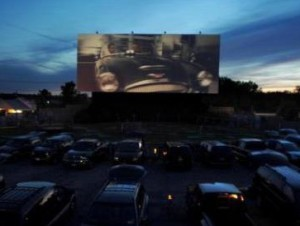 Sunset at the Transit Drive-In