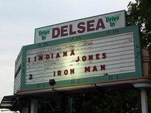 Delsea Drive-In marquee
