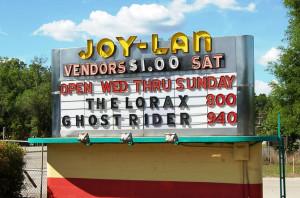 Joy-Lan Drive-In marquee