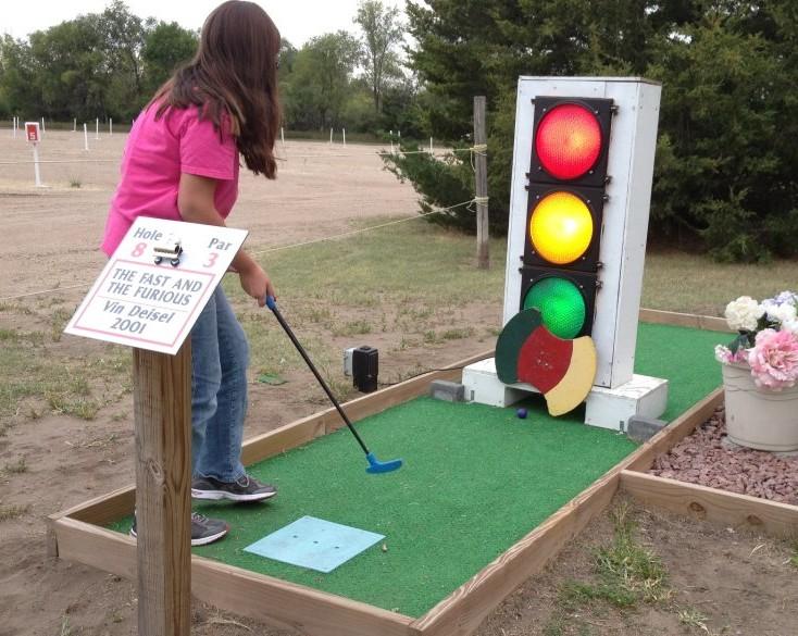 Mini-golf at the Starlite Drive-In