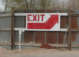 Exit sign from the Mesa Drive-In