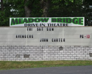 Meadow Bridge Drive-In marquee