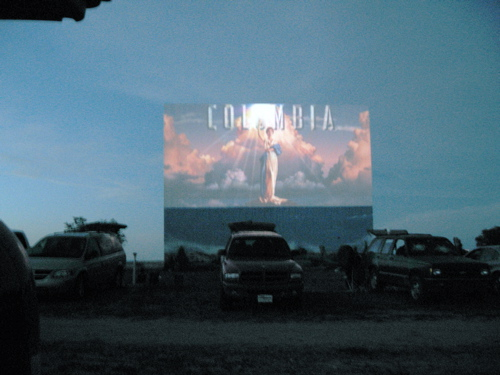 Fort Union drive-in screen