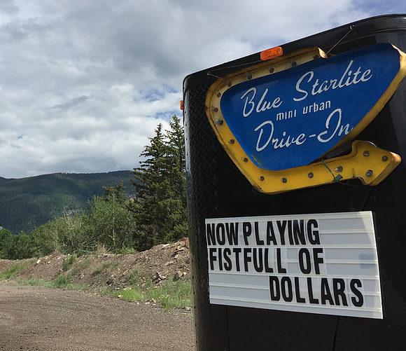 Blue Starlite Mini Urban Drive-In sign