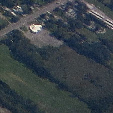 Aerial view of the Denniston Drive-In site