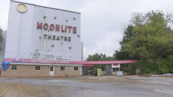 Moonlite Drive-In Theatre facade