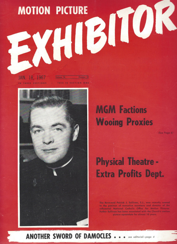 The cover of Motion Picture Exhibitor magazine
