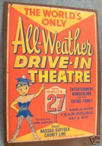 All-Weather drive-in theater ad