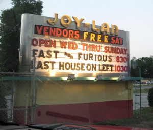 Joy-Lan Drive-In marquee