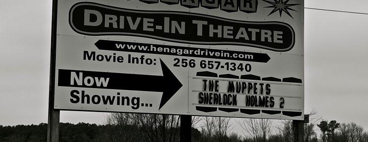 Henagar Drive-In sign