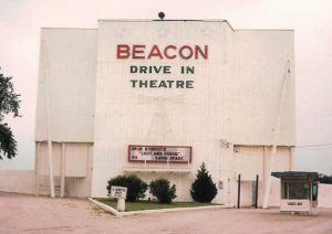 Beacon Drive-In Theater screen