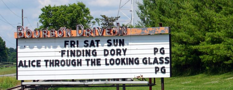 Bourbon Drive-In marquee