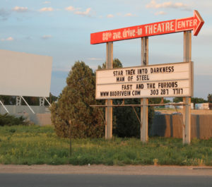88 Drive-In marquee and screen