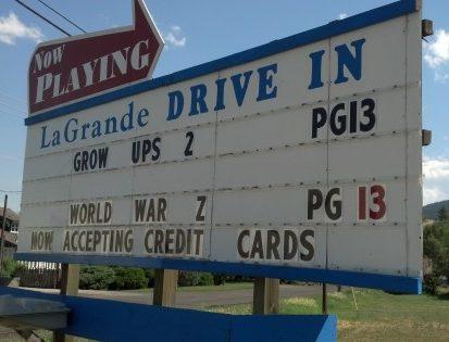 La Grande drive-in marquee