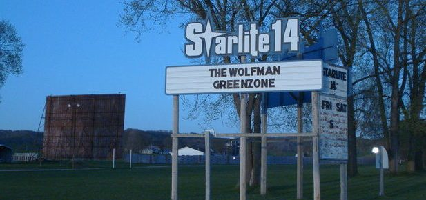 Starlite 14 marquee with screen in background