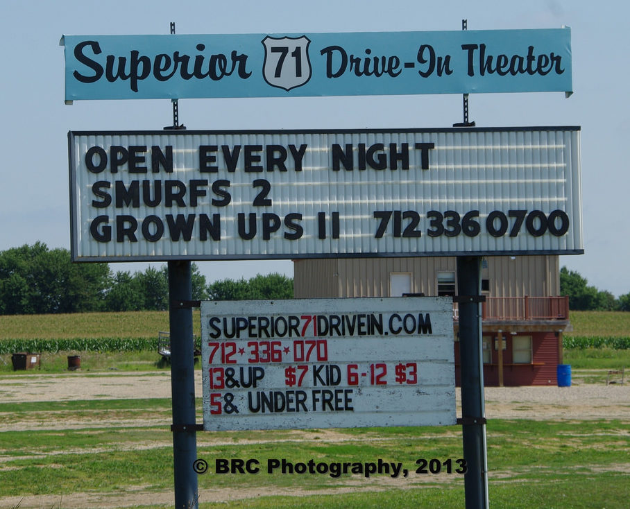 Superior 71 Drive-In marquee