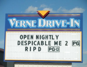 Verne Drive-In marquee
