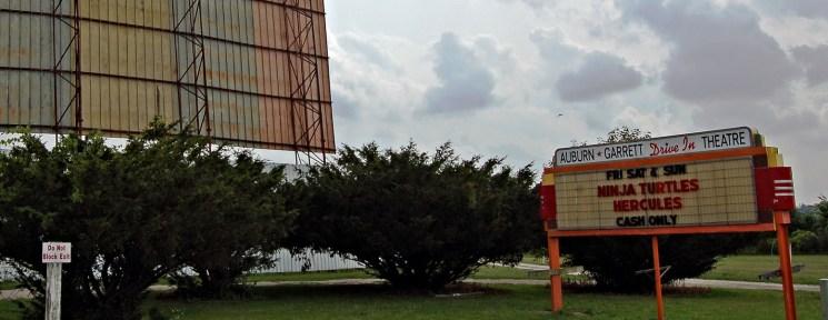 Auburn-Garrett Drive-In marquee and screen