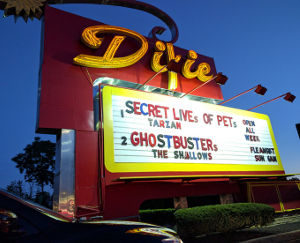 Dixie Drive-In marquee