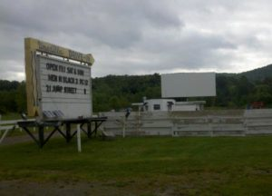 Unadilla Drive-In marquee and screen
