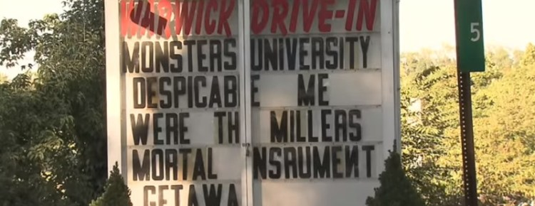 Warwick Drive-In marquee