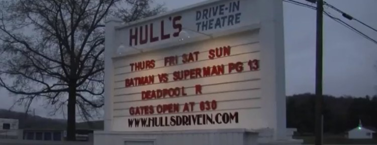 Hull's Drive-In marquee
