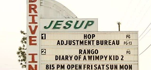 Jesup Drive-In marquee