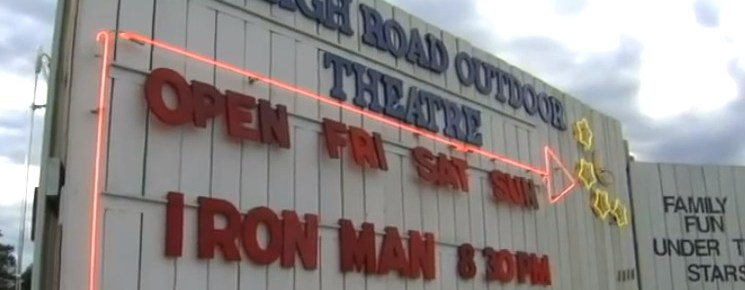 Raleigh Road Outdoor Theatre marquee