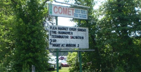 Comet Drive-In marquee