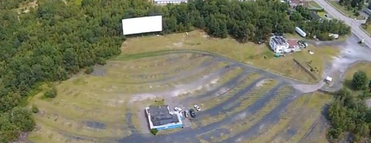 Aerial view of the Laurel Drive-In