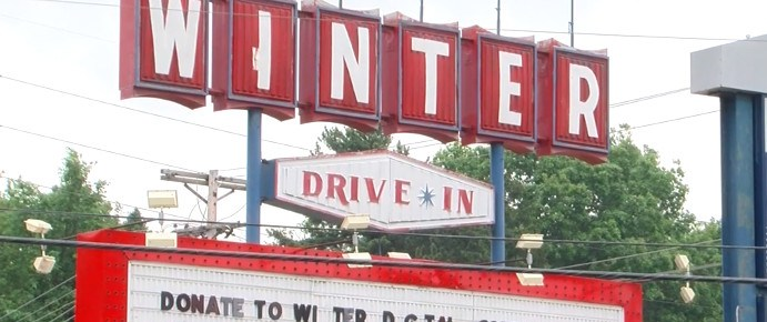 Winter Drive-In marquee