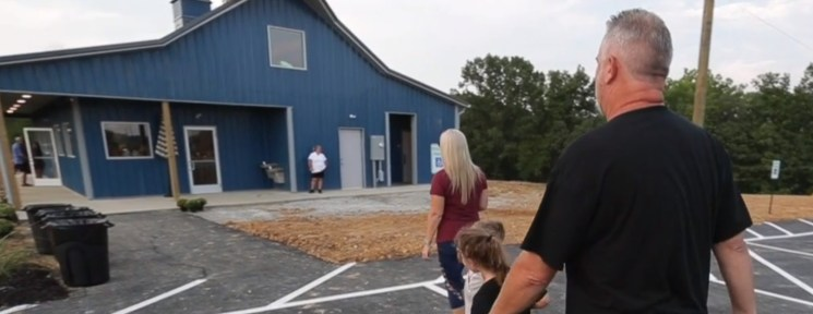 A family approached the concession stand