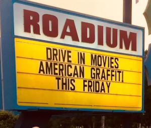 Roadium Drive-In marquee