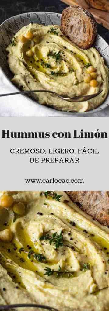Hummus con Limón