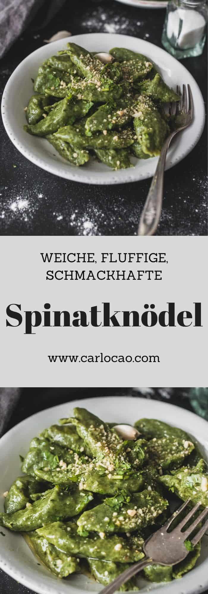 Capunet - Spinatknödel