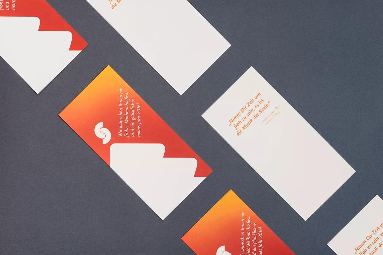 Design der Weihnachtskarte für Zahnarzt Dr. Sielemann in Mainz