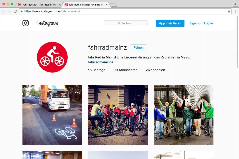 Instagram-Seite