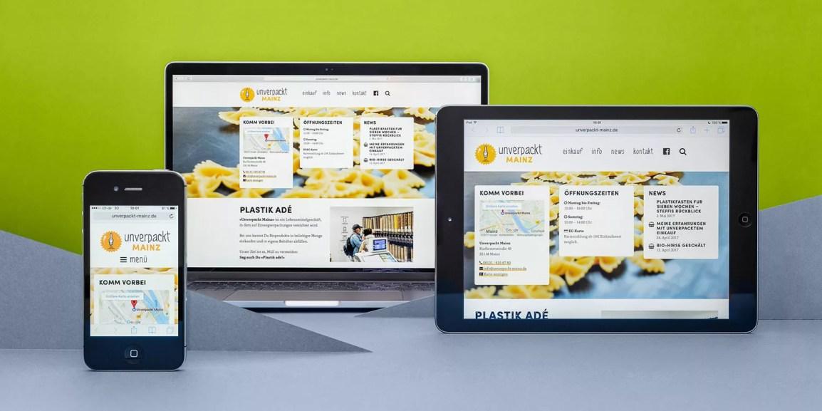 Webdesign: Webseite für Unverpackt Mainz