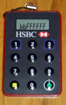 壊れたHSBC香港のセキュリティデバイス