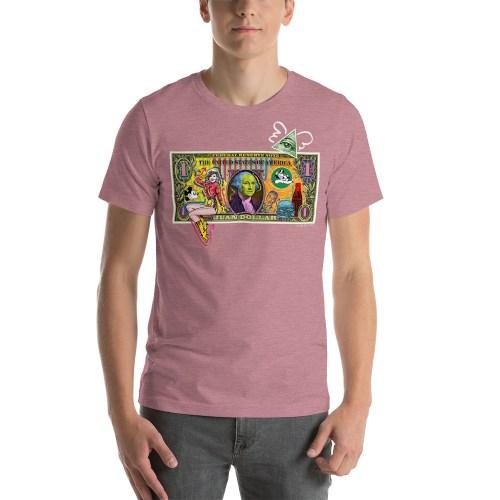 Juan Dollar unisex t-shirt old pink