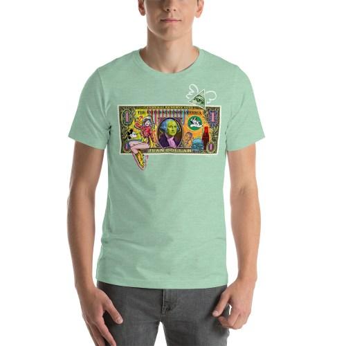 Juan Dollar unisex t-shirt light green