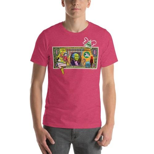Juan Dollar unisex t-shirt pink