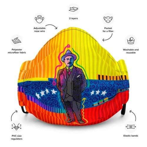 jose-gregorio-hernandez-face-mask-black-front-60864d553874a