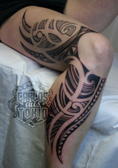 lady's maori tribal tattoo3